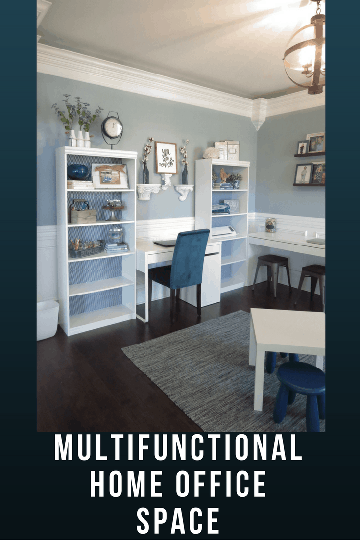 Create a Multifuctional Home Office Space for your family with a limited budget